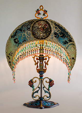 Nightshades Art Nouveau Moon Shaped Victorian Lampshade