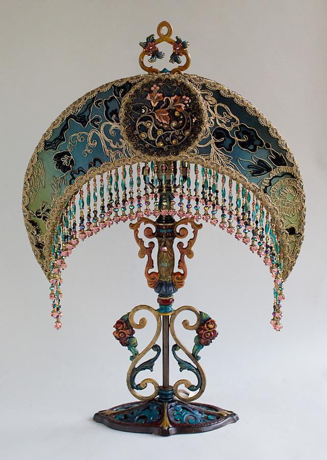 Nightshades Art Nouveau Moon Shaped Victorian Lampshade