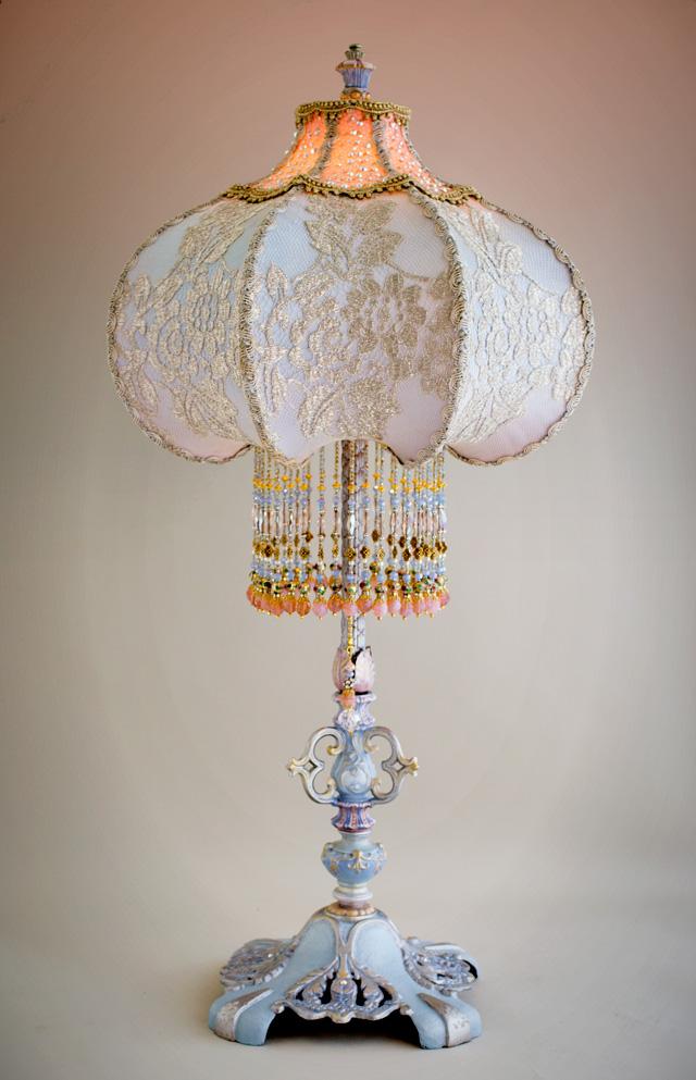 Nightshades Cinderella Lampshade With Silver Lace
