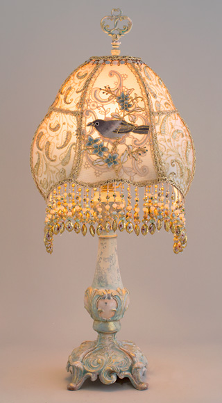 Nightshades Victorian Gilded Age Table Or Bedside Lamp