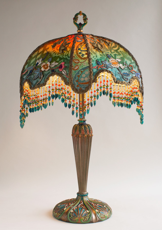Nightshades Victorian Lampshade With Burnout Velvet