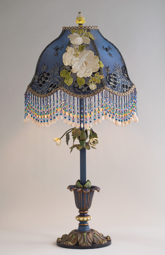 Nightshades Victorian Lampshade With Belladonna White