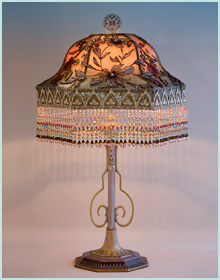 Victorian Floor And Table Lamp Shades And Antique Lamps By