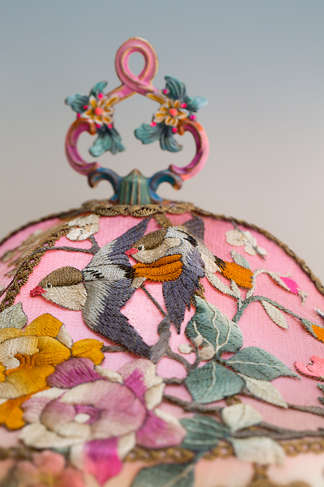 Nightshades Pink Chinoiserie Victorian Lampshade With