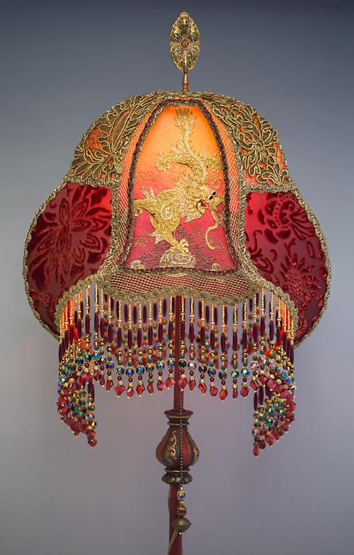 Royal Dragons Victorian Lampshade