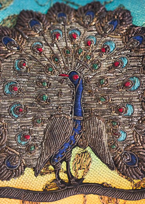 Nightshades Jeweled Plume Peacock Table Lamp