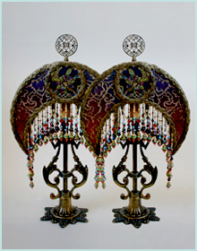 Pair of Spanish lampshades