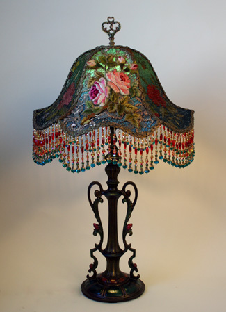 Nightshades shabby chic lampshades victorian shadowbox lampshade with french embroidery aloadofball Choice Image