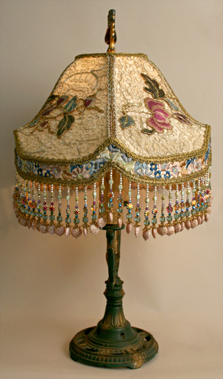 Nightshades Peony Amp Butterfly Victorian Table Lamp And Shade