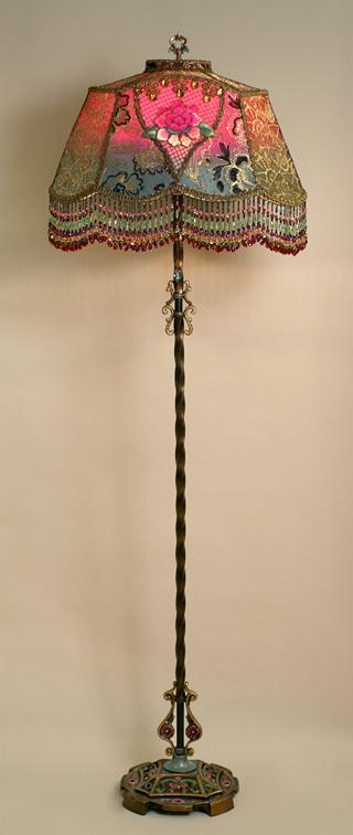 Edwardian абажур на античный стиль цоколем