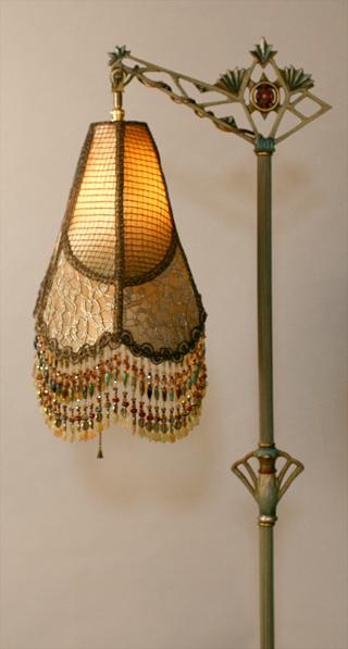 Nightshades Chinese Crane Chinoiserie Silk Beaded