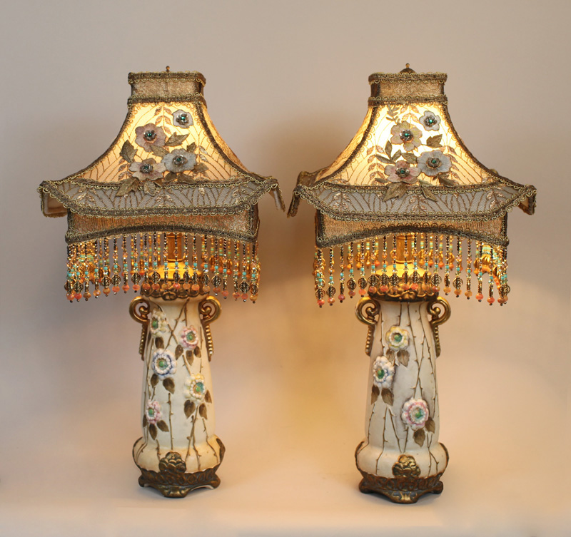 Nightshades Chinoiserie Style Pagoda Lampshades On