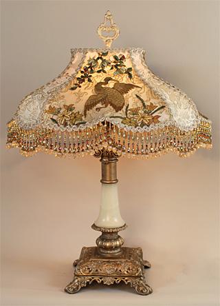 Nightshades Chinoiserie Lampshade On Antique Bridge Lamp