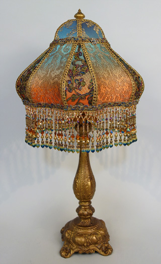 Nightshades bohemian style antique beaded lampshade for Purple beaded lamp shade