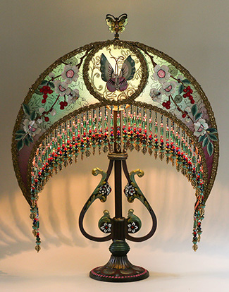 Nightshades chinese victorian lampshade chinese victorian lampshade mozeypictures Images