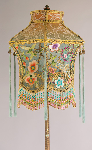 Nightshades Victorian Lampshade With Antique Chinoiserie