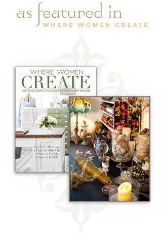As featured in Where Women Create magazine!